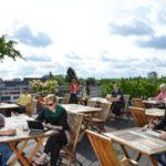 Dachterrasse im Hostel Köln